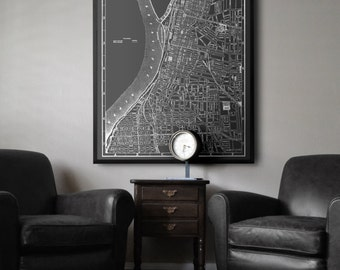 Memphis map : Black and white style vintage Memphis Tennessee map print 1902