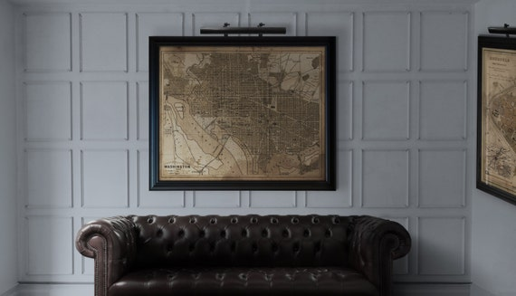 Washington DC Map : Vintage Rustic Washington DC Map Print | Etsy