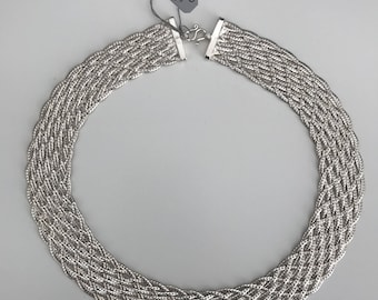 Braided Sterling Silver Necklace