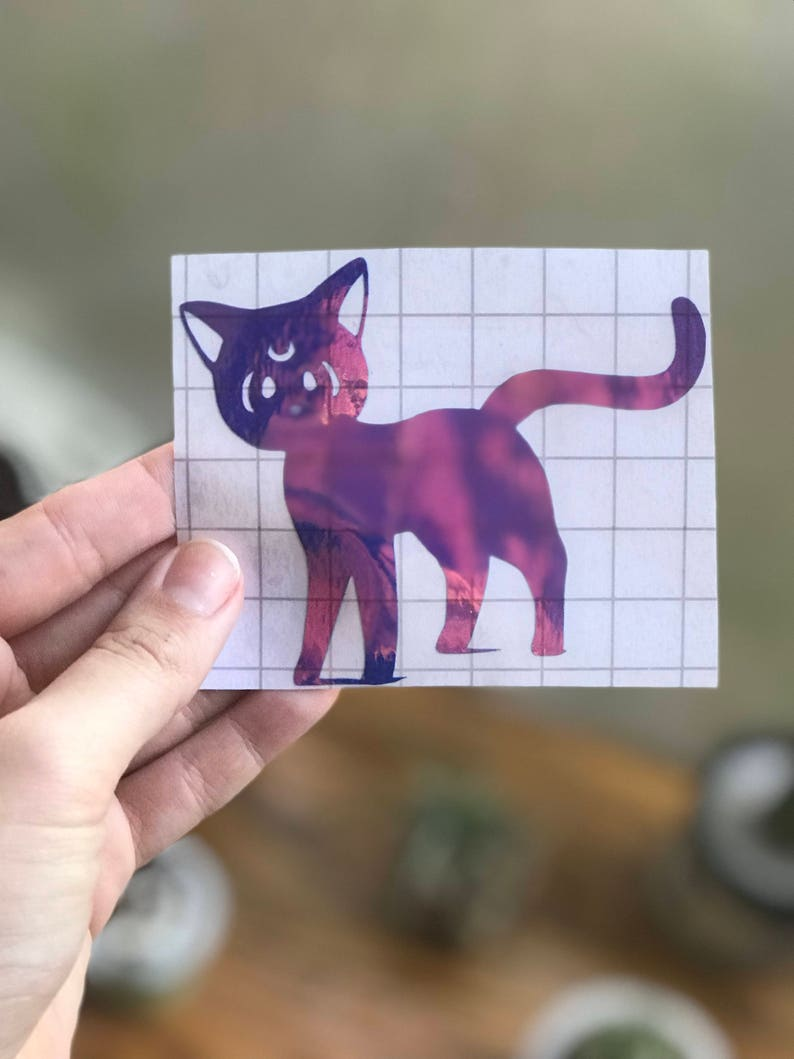 Luna Cat HOLOGRAPHIC decal image 0