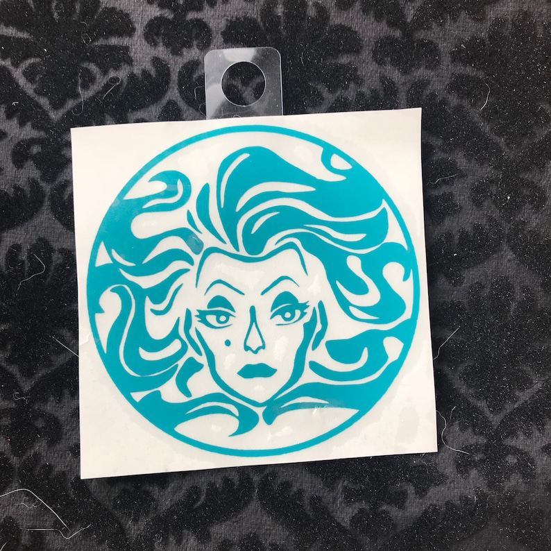 Speaking Leota Crystal Ball vinyl decal Haunted Place image 0