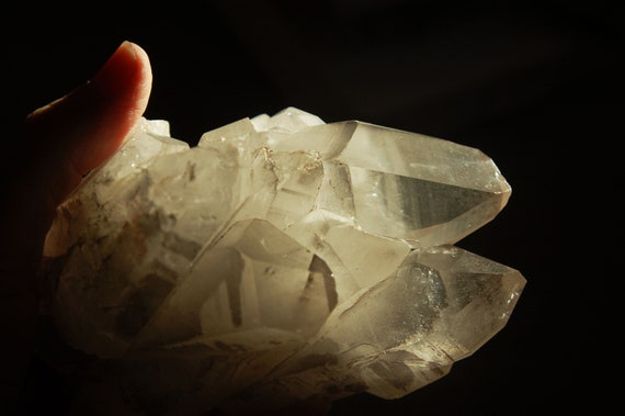 Natural Quartz Crystals Quantum Cluster