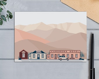 Cardrona Hotel, New Zealand Modern Design Greeting  Card