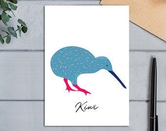 Native Birds of Aotearoa, New Zealand Kiwi Bird Greeting Card