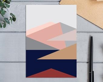 Roy's Peak View from the Summit, Wanaka, New Zealand Modern Geometric Design Greeting  Card