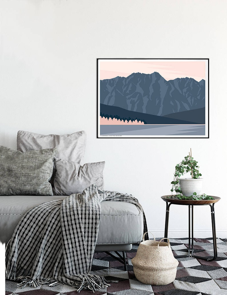 The Remarkables Mountain Range Queenstown New Zealand Modern image 0