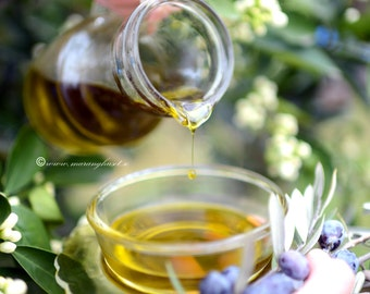 Unfiltered Extra Virgin Olive Oil Made in Greece, All Natural Organic Evoo Handmade on Greek Olive Farm, Traditional Greek Olive Oil Bottle