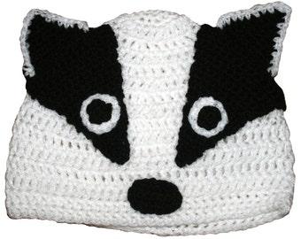 2c8d8547c30 Hand Crocheted Badger Hat HH107