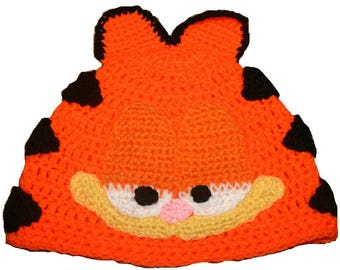 c0c7dc7ab2b Hand Crocheted Ginger Cat Hat HH009