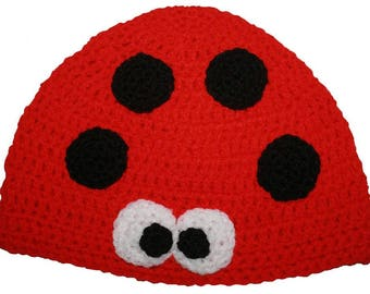 9ea46a8ae5c Hand Crocheted Ladybird Hat HH031