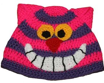 Hand Crocheted Cheshire Cat Hat HH 110