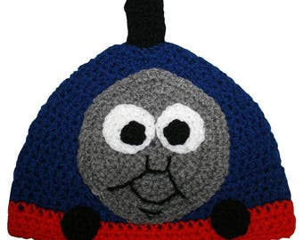Hand Crocheted Tank Engine Hat HH 050