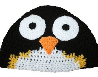 Hand Crocheted Penguin Hat HH 093