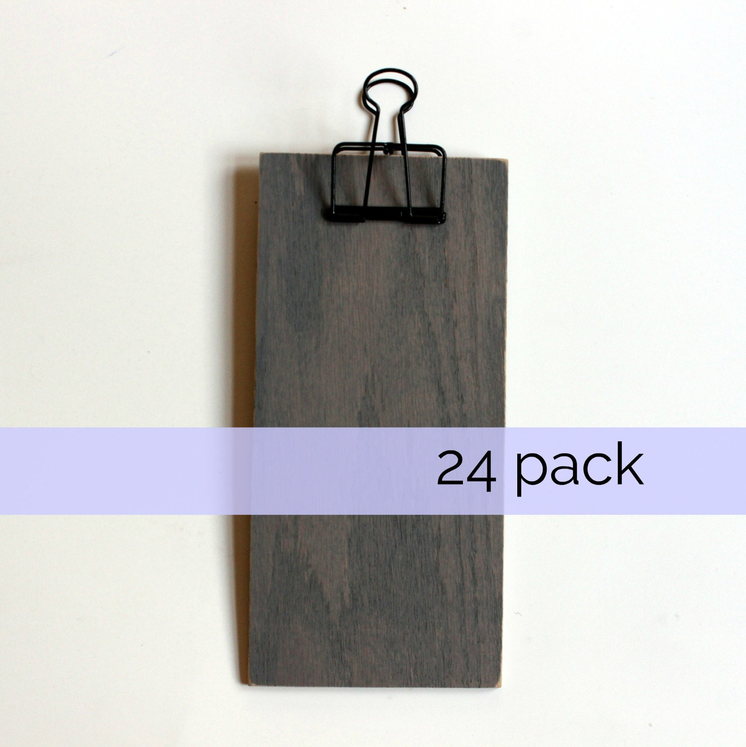 small wooden clipboards  bulk quantity 24  gray oak with