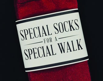 Father of the Bride Sock Packaging- Special socks for a special walk