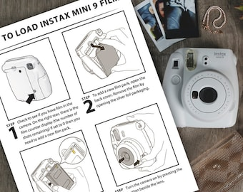 b72d41f123bdc Polaroid Instax Mini 9 instructions - How to change the film and selfie  instructions for Mini 9 Instant Camera - Digital Download