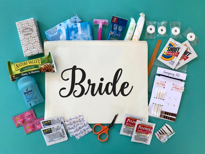 Custom Bridal Emergency Kit  Large  Bride Survival Kit  image 0