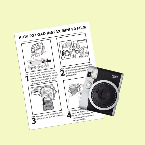 Polaroid Instax Mini 90 Instructions More In Depth Detail On Etsy