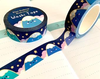 Mountain Washi Tape illustrated printed Japanese kraft washi paper recyclable kawaii