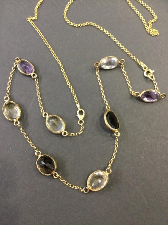 Gemstone gilt chain