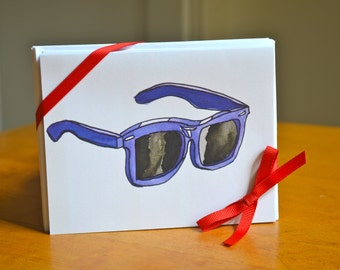 8 Blank Sunglasses Cards