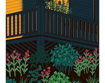 Late Summer Bloom Giclee Art Print