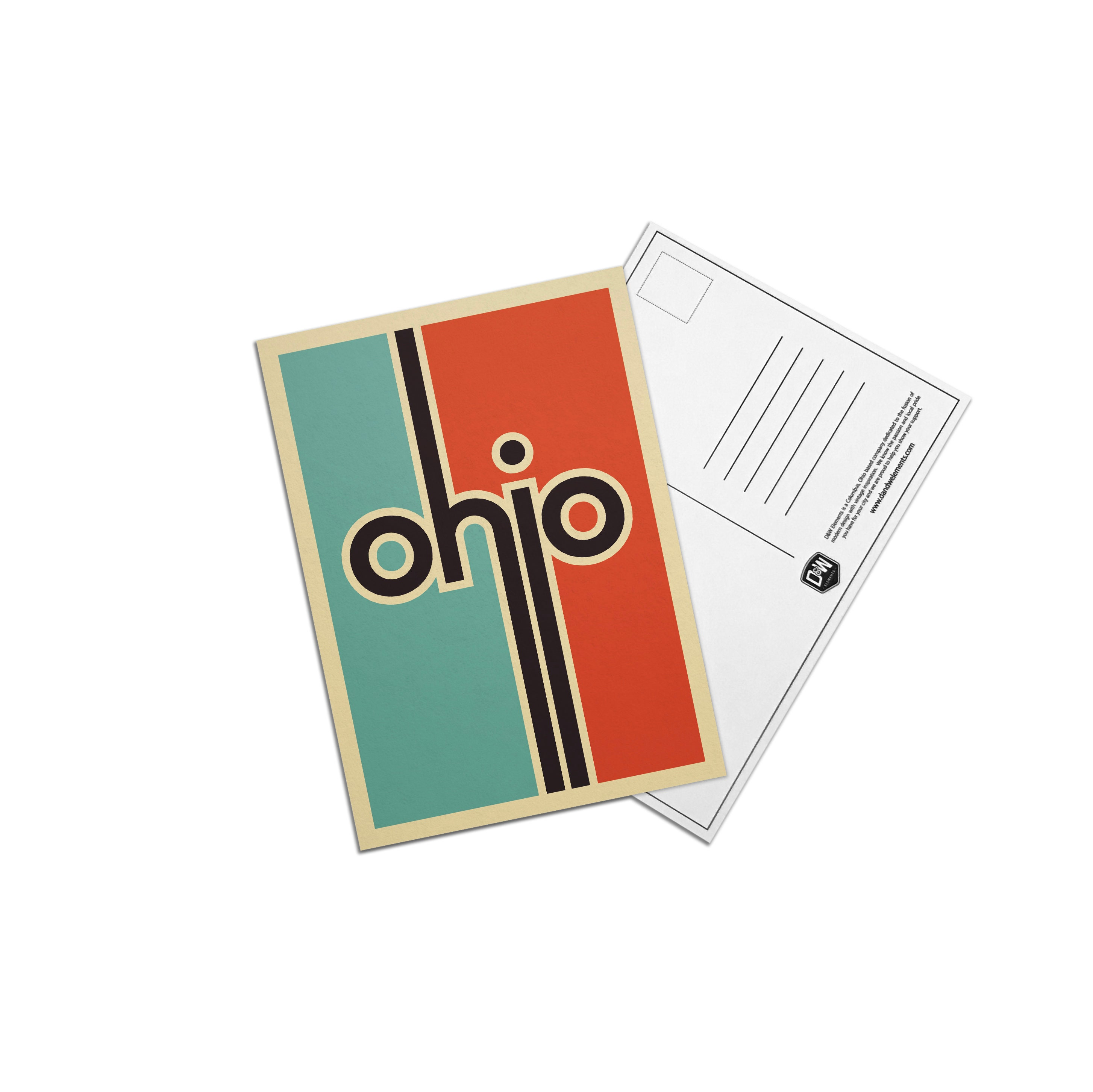 Retro Ohio 5x7 Postcard