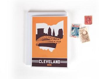 Cleveland, Ohio Skyline Greeting Cards