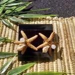 Starfish Shell Earrings