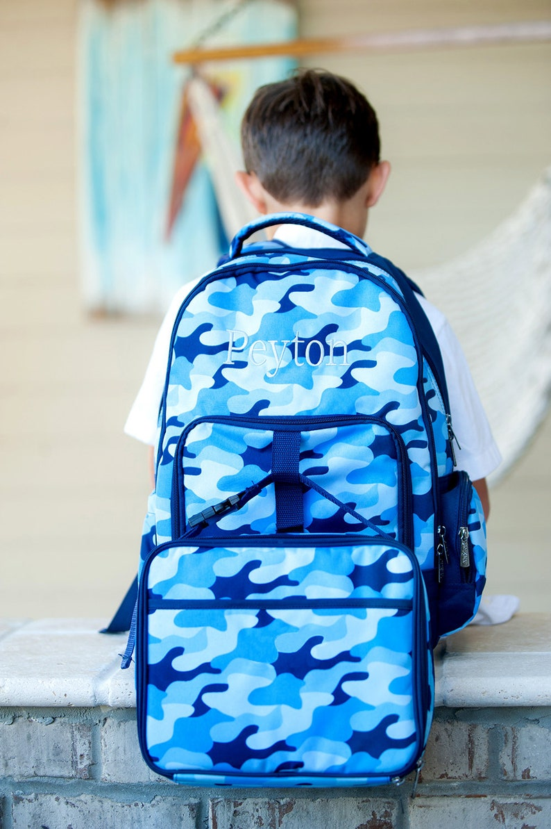 a4e7a1999e Monogrammed Backpack Set-Personalized Backpack Set-Cool Camo