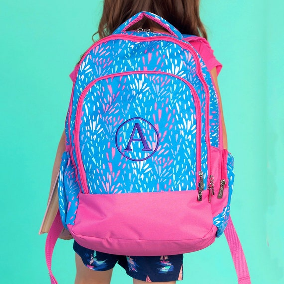 Girl Backpack Gray Monogrammed Backpack Teal Boy Backpack Navy Personalized Backpack ManyColors Chevron Backpack Full Size Backpack