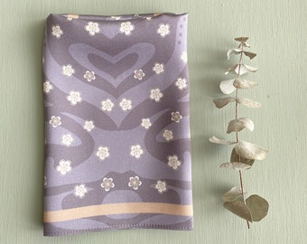 Tiger Blossom - Silk Pocket Square - Cherry Blossom - Lavender