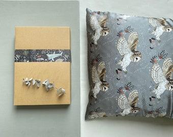 Silk Pillowcase - Barn Owl - Silver Sage
