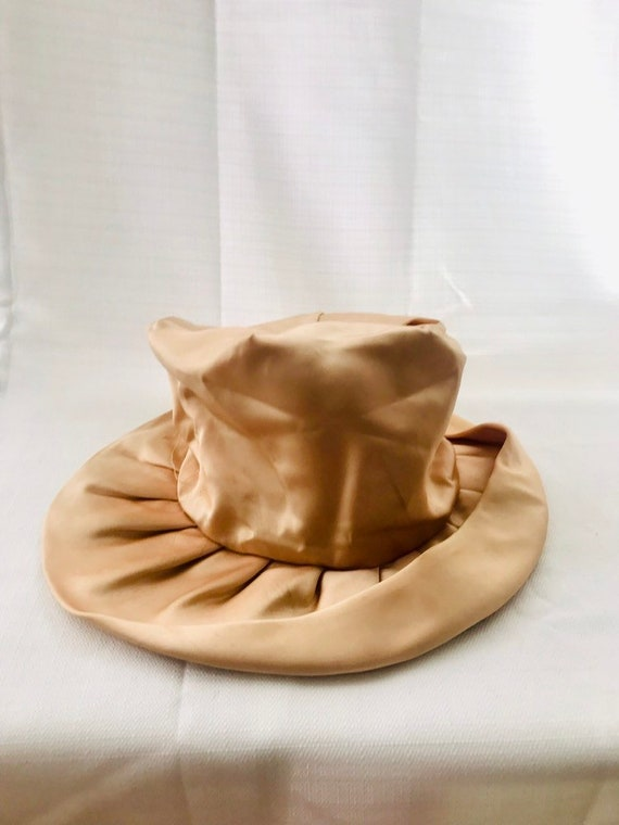 Vintage 30s Dusty Rose Silk Hat