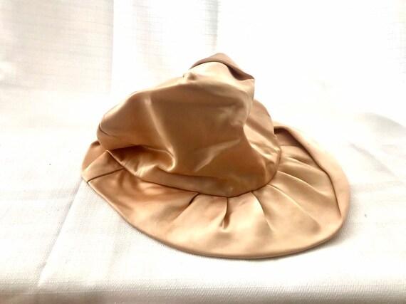 Vintage 30s Dusty Rose Silk Hat - image 4