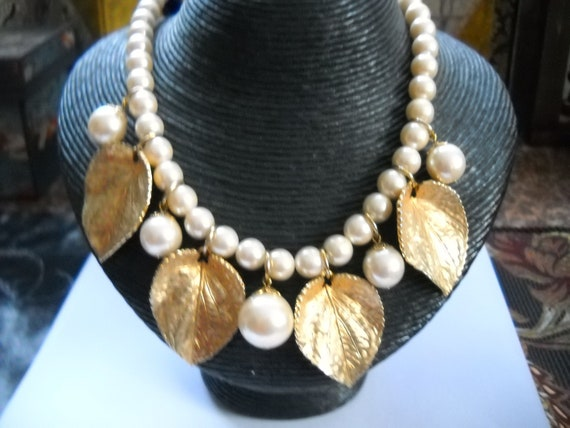 Vintage Necklace Richelieu Pearl Necklace Glossy Pearls Etsy