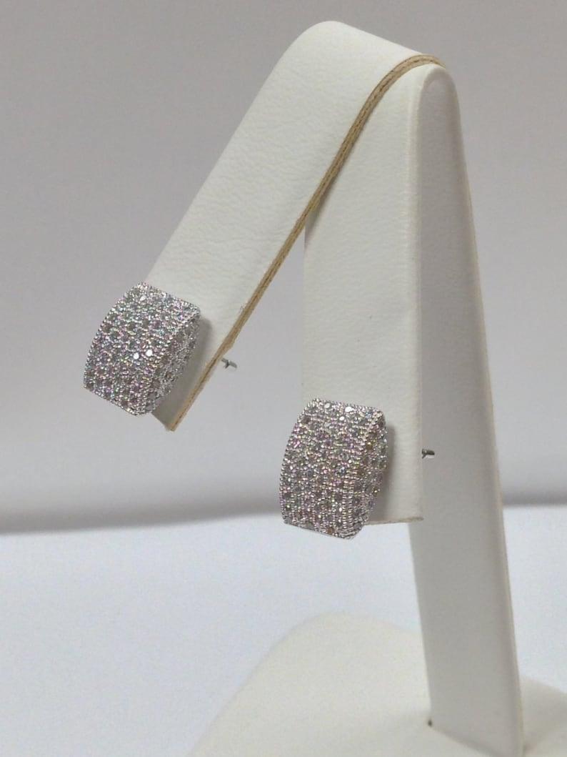 Cubic Zirconia Stones Earrings 925 Sterling Silver