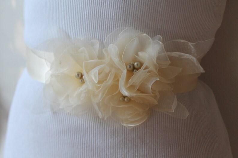 Wedding Flower Belt Wedding Sash Bridal Flower Sash Wedding Accessories Bridal Belt