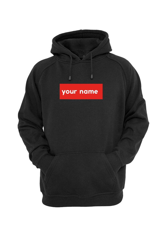 5ff34d6cb Supreme Inspired Custom Hoodie Supreme Box Logo Hoodie | Etsy