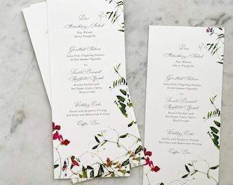 Botanical Garden Wedding Menu