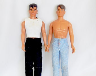 1990 New Kids On The Block Dolls - Jonathan And Jordan - Big Step Productions - Hasbro