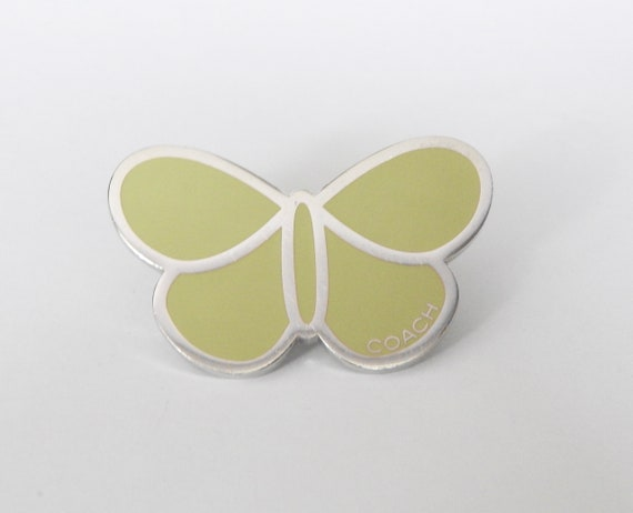 Coach Lime Green Butterfly Pin - For Coats Lapels