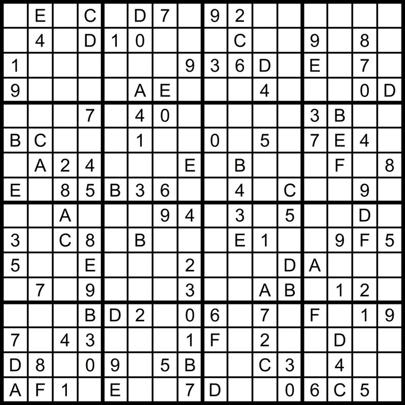 photo about Sudoku 16x16 Printable titled Hexadoku sudoku 16x16 16x16 sudoku sudoku print mega sudoku Electronic Obtain sudoku 16 sudoku demanding substantial sudoku sudoku downloadVol 5