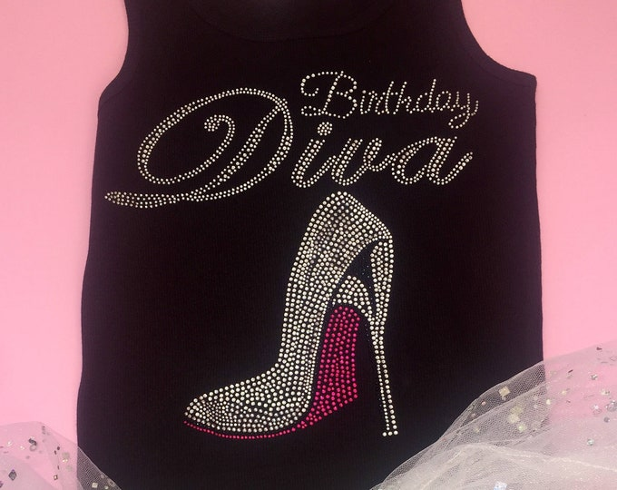 Women's birthday tank top. Birthday tanks . Ladies birthday shirt , big hot pink bottom shoe.  30th birthday tee . birthday shirt.