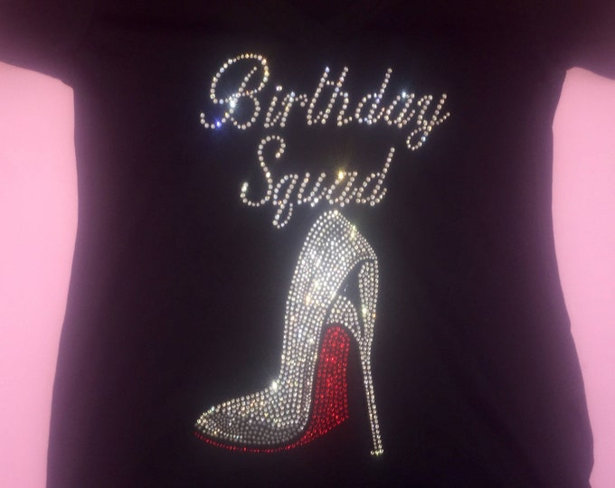 Birthday squad red high heel shirt . Birthday squad tshirt . Women's birthday tee. Birthday shoe tank top. Birthday squad tee shirts