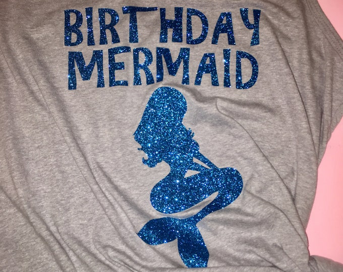 Cute Birthday mermaid tank top , Beach themed birthday , Mermaid shirt , Cute womens birthday t-shirt, cruise birthday shirt, nautical