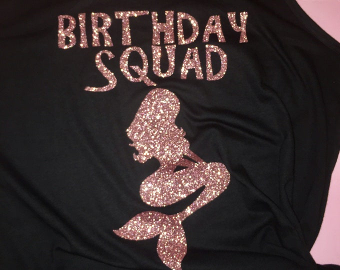 Mermaid birthday squad shirt , beach trip , girls weekend, birthday shirts , women's birthday shirt , 21st birthday , 30th , 35th, 40th