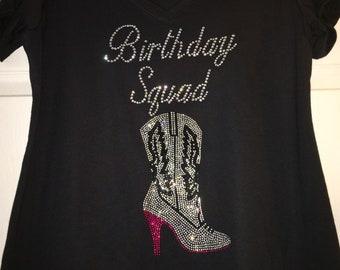 Birthday Squad nashville shirt , 30th birthday shirt, nash birthday bash shirt, 40th, 50th, girls weekend shirt, custom birthday tank top,