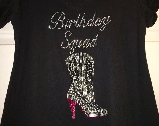 Birthday Squad nashville shirt , 30th birthday shirt, nash birthday bash shirt, 40th, 50th, girls weekend shirt, custom birthday tank top,