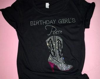 Birthday posse shirts . Posse diva birthday tees. Nashville trip party shirts . birthday shirts for women , ladies birthday entourage tees